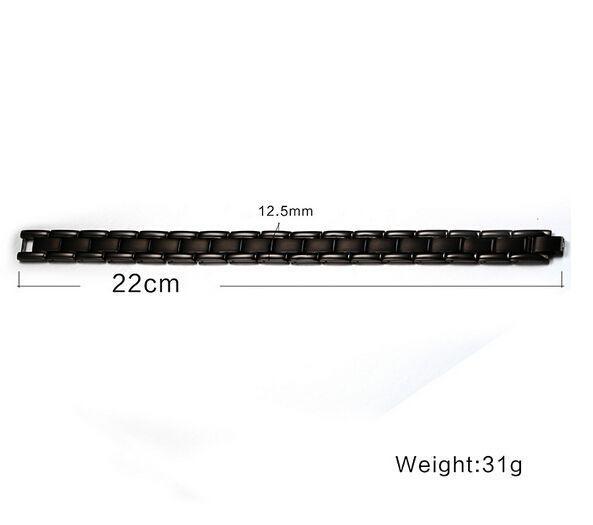 Il regalo classico dei più nuovi uomini freddi l'acciaio inossidabile puro 316L non sbiadisce mai il braccialetto nero del braccialetto di salute di terapia magnetica del nero di alta qualità