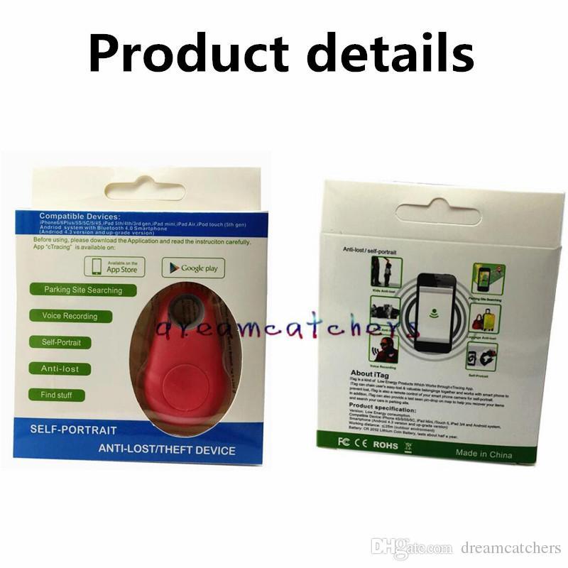 Inalámbrico Bluetooth 4.0 Anti-Perdida Alarma Tracer Kid Pet Cámara del coche Obturador remoto Autodisparador para el iphone 7 Samsung S7 HTC Blackberry Smartphone
