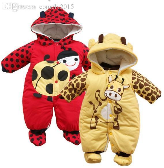 602ebeef8 2019 Wholesale Newborn One Piece Baby Romper Winter Baby Clothing ...