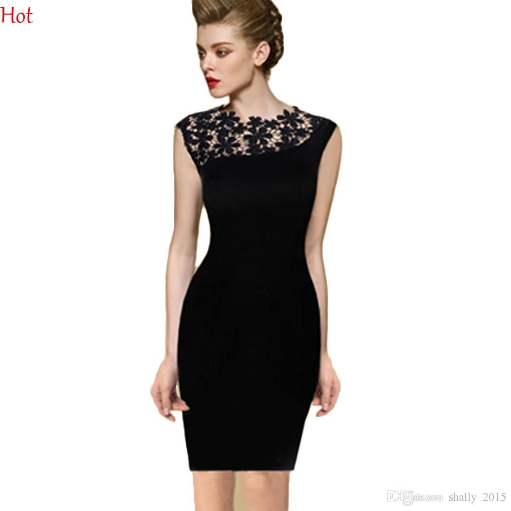 Großhandel New Womens Kleider Vintage Elegant Hollow Blumenhäkeln ...
