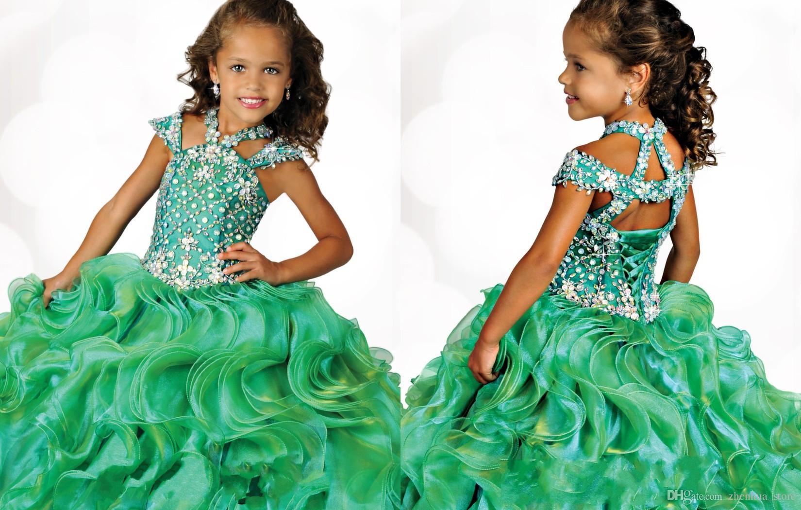 2018 Ritzee Girls Ball Gowns Little Girls Pageant Dresses 6681 Green ...