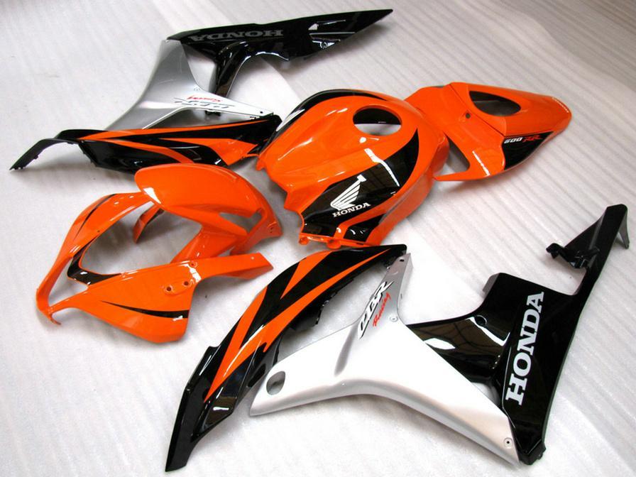 High quality fairing kit for HONDA Injection molding CBR600RR 2007 2008 silver black orange CBR 600 RR F5 07 08 fairings set LY37