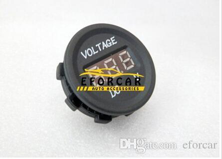 قطع غيار السيارات المقياس فولت متر الصمام 12V-24V للماء سيارة دراجة نارية العاصمة العرض الرقمي الفولتميتر لرصد