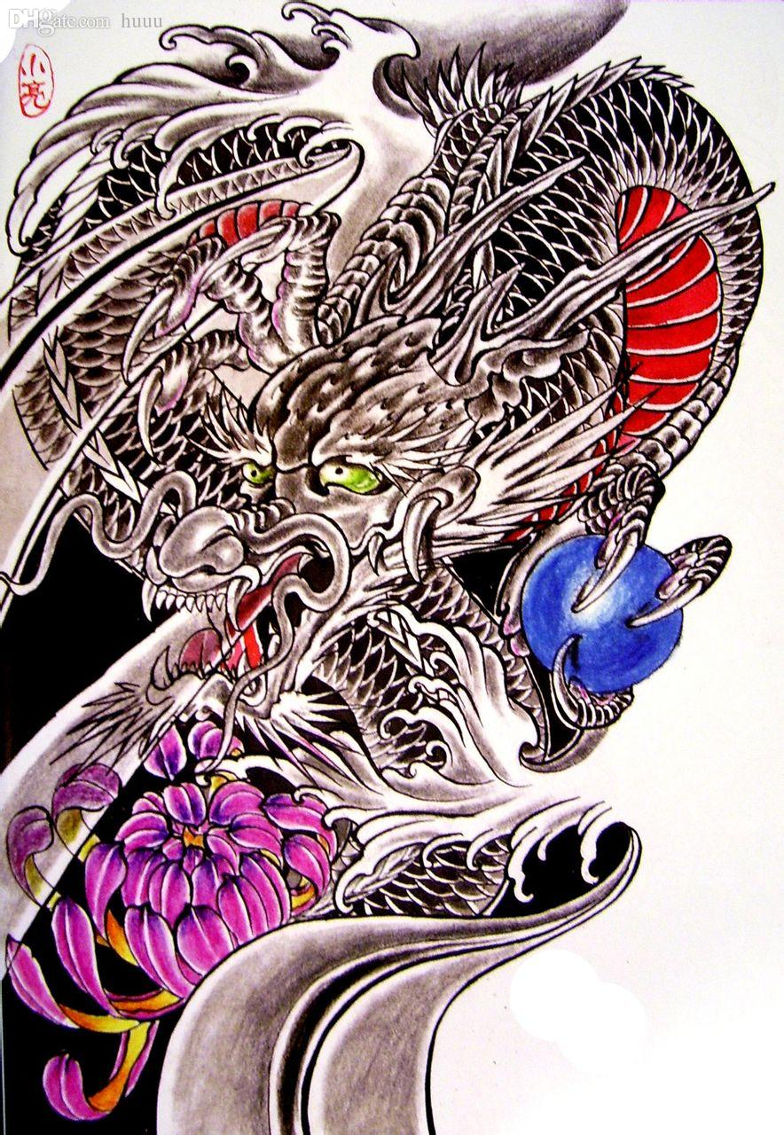 wholesale pdf format tattoo book pic chinese dragon ghost flower skull beauty tattoo flash book. Black Bedroom Furniture Sets. Home Design Ideas