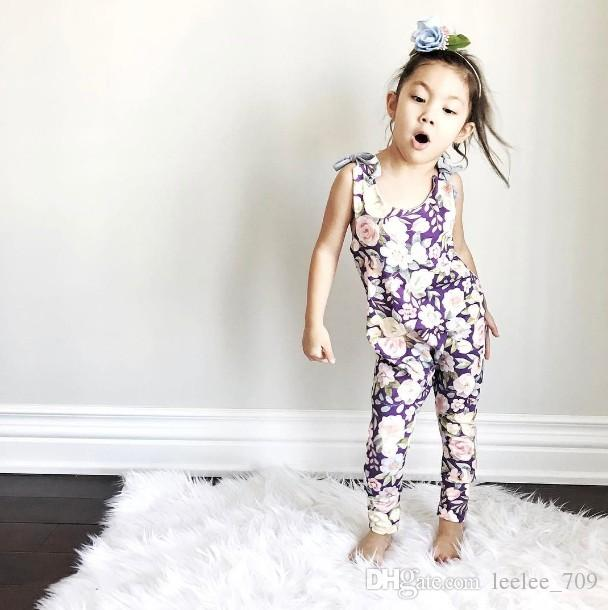 17913b067 INS Wish Baby Girl Kids Toddler Rose Floral Romper Onesies Camisole ...