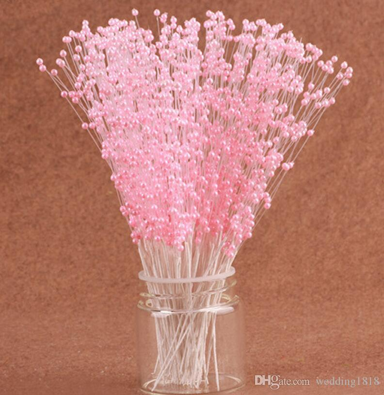 Diy CRAFTS FLOWERS Gold/White/Pink/Red PEARL SPRAY Bridal