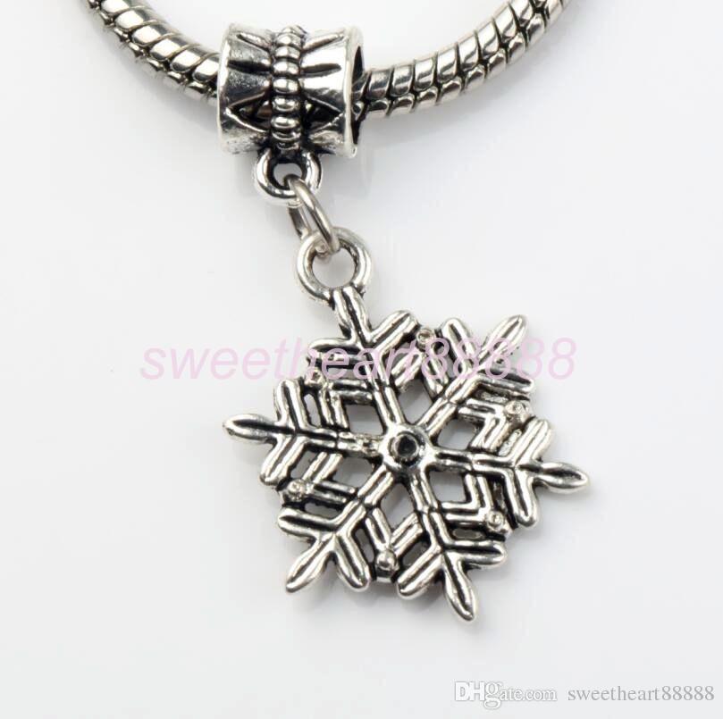 Mic tibetansk silver söt julgran snöflinga klocka stövlar lager snögubbe älg charm pendant 103004