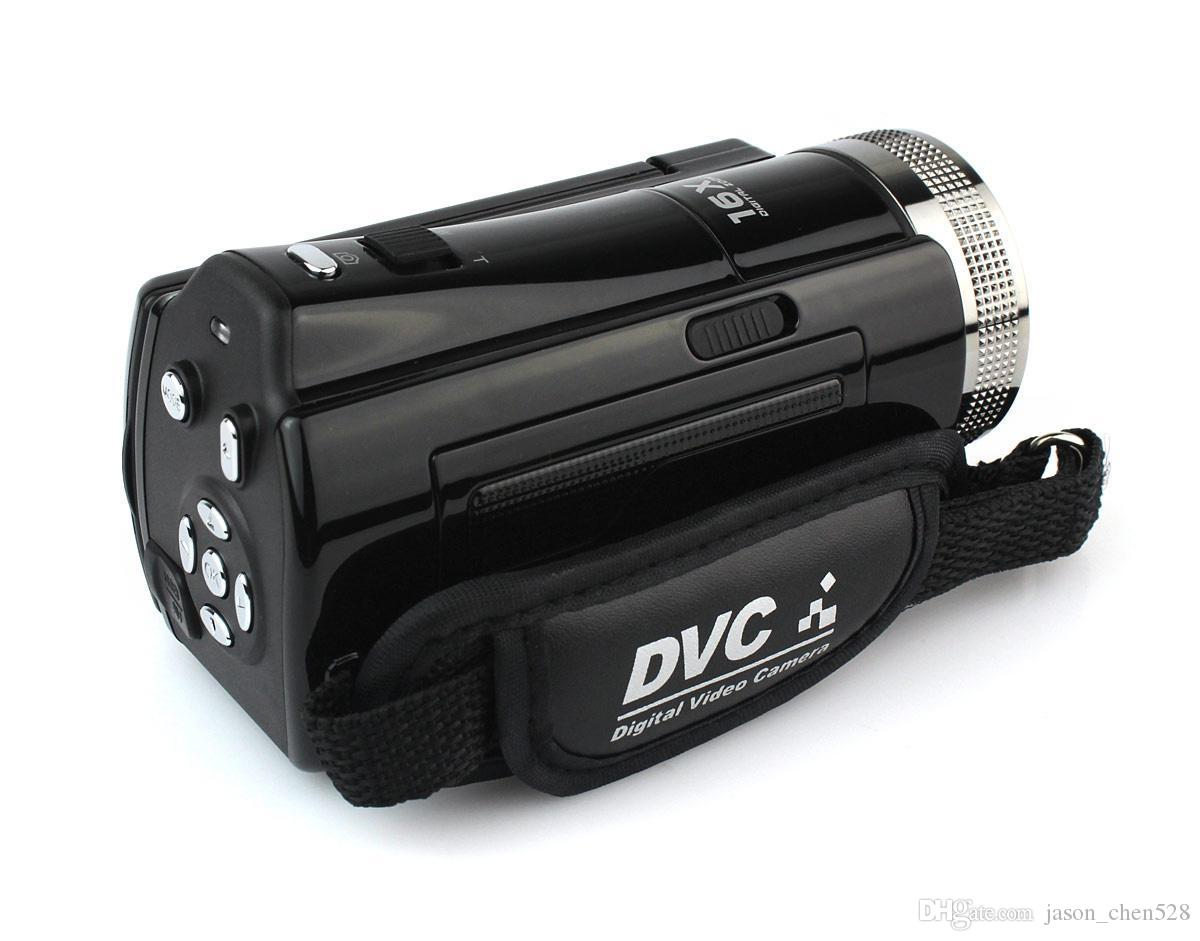 DHL free HD 1280*720 12 Megapixel 2.7 1080P TFT LCD 16:9 16x Digital Zoom High Definition Video Camera Recorder