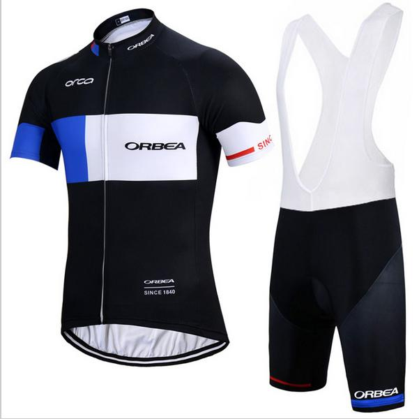 2 Styles! 2017 ORBEA Team Men  s Summer Cycling Jersey Set. Short Sleeve +  Bib Shorts. Mens Bicycle Jersey Cycling Bike Clothing Sportswear. 132fd1fed