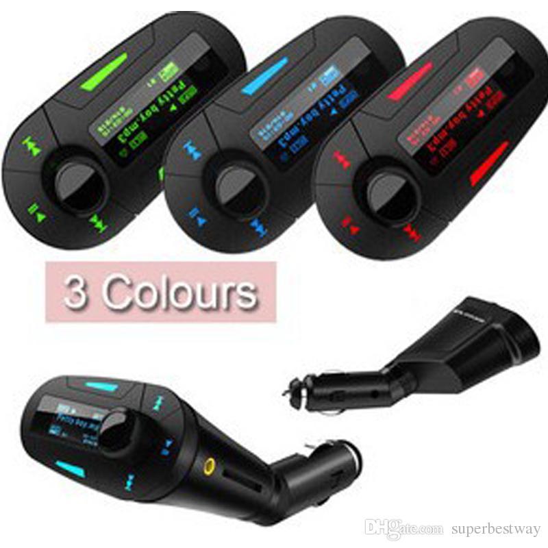 3 LCD-Farben-Auto-Installationssatz-MP3-Musik-Spieler-drahtloser FM-Übermittler-Radio-Modulator mit USB-SD-MMC + Fernsteuerungs-DHL-freiem OTH158