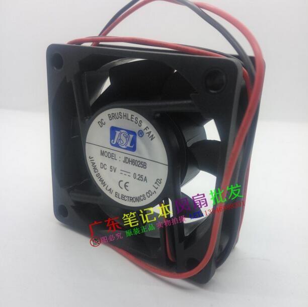 JDH6025B 5 V 0.25A 60252 draht dual ball fan computer fall fan