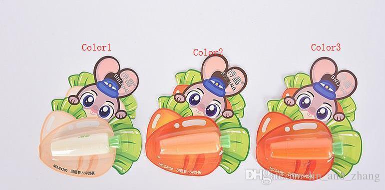 Karotten Hot 3.5g Cute Fruit Lang anhaltende Feuchtigkeitsspendende Anti-rissige Magische Mini Lippenbalsam für Schönheit Make-up M02703