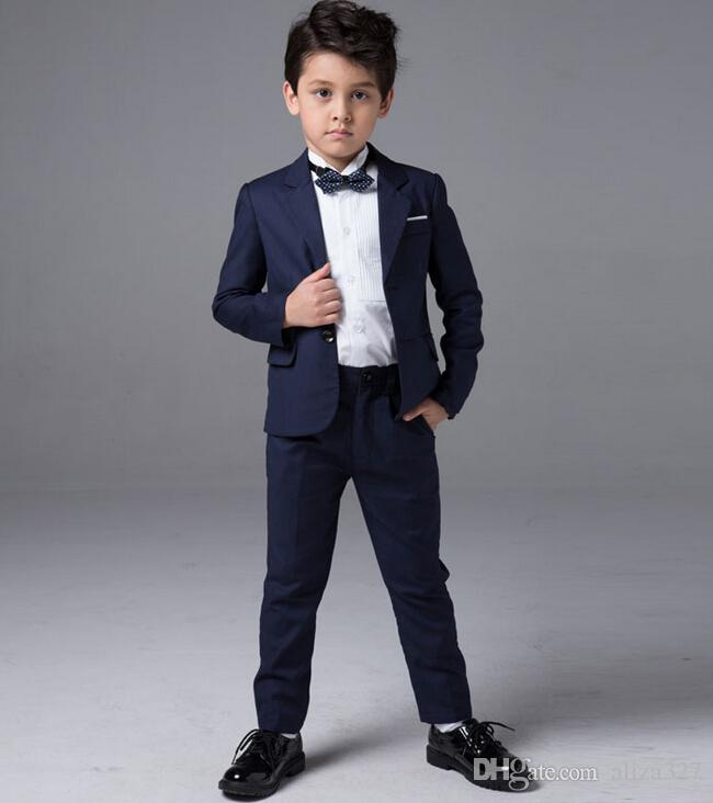 Blue Color Little Boy Suits Wedding Occasion Formal Occasion Boy ...