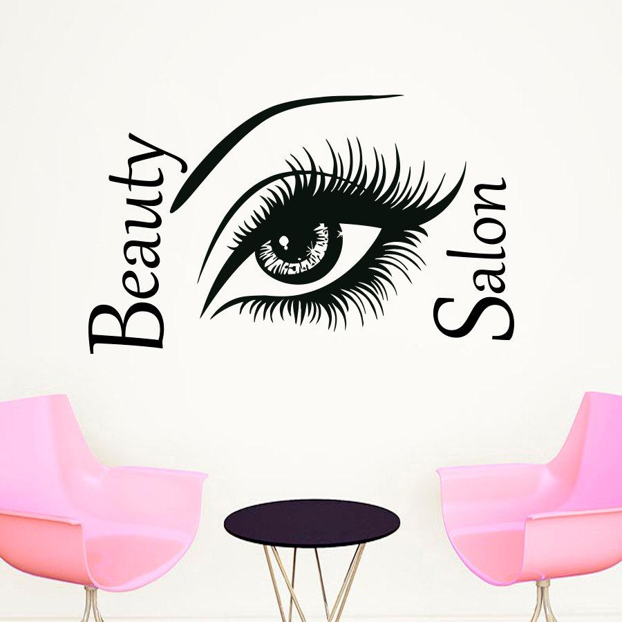 Top selling beautiful big eye wall sticker beauty salon diy home top selling beautiful big eye wall sticker beauty salon diy home decor vinyl self adhesive wall decal removable wall art stickers removable wall decal from amipublicfo Images