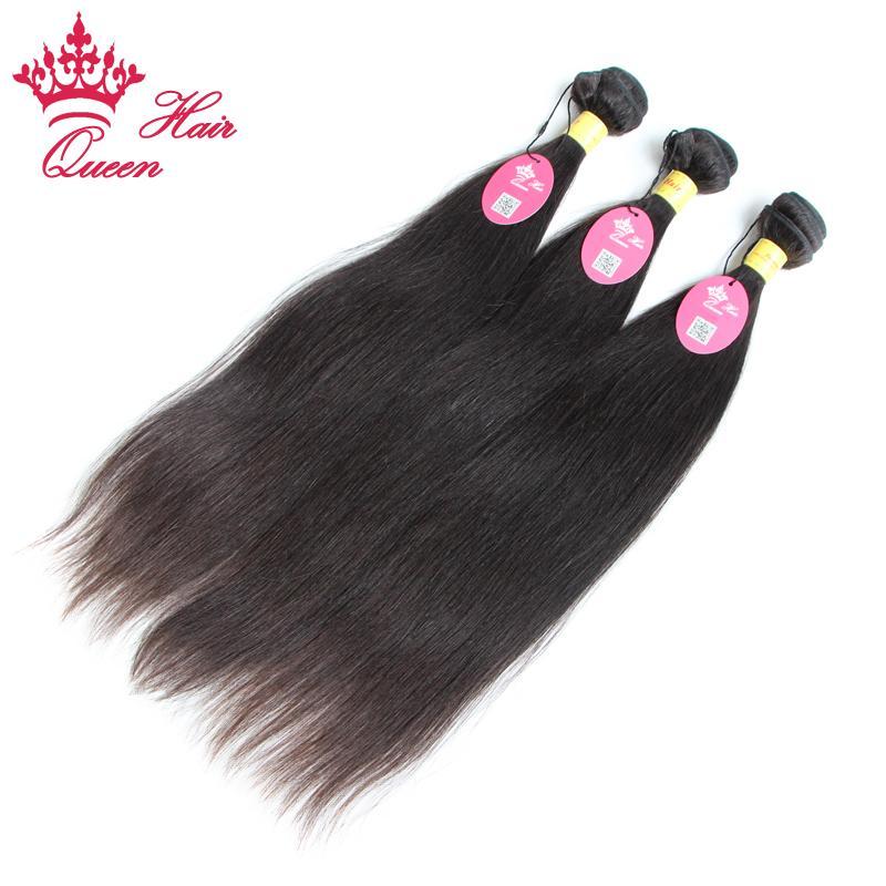 Queen Hair heißer Verkauf unverarbeiteter peruanischer jungfräser menschliches haar gerade 4 teile / peruanisches jungfräser haar webt dickes bündel weich