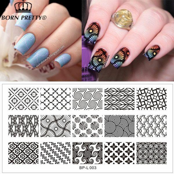 Large designs nail art stamp template image plate born pretty bp see larger image prinsesfo Image collections