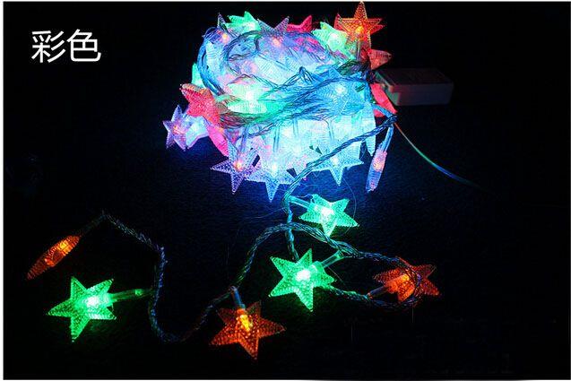 10M 80 / 100LED 멀티 컬러 문자열 다섯개 스타 크리스마스 장식 야외 주도 문자열 조명 US EU 플러그 110V 220V 꼬리 플러그