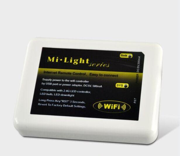 MiLight Series WIFI Controller Hub for RGB RGBW RGBWW LED Lights Bulb Strips Lamp Mi Light 12V 24V with USB Cable Ship via Express