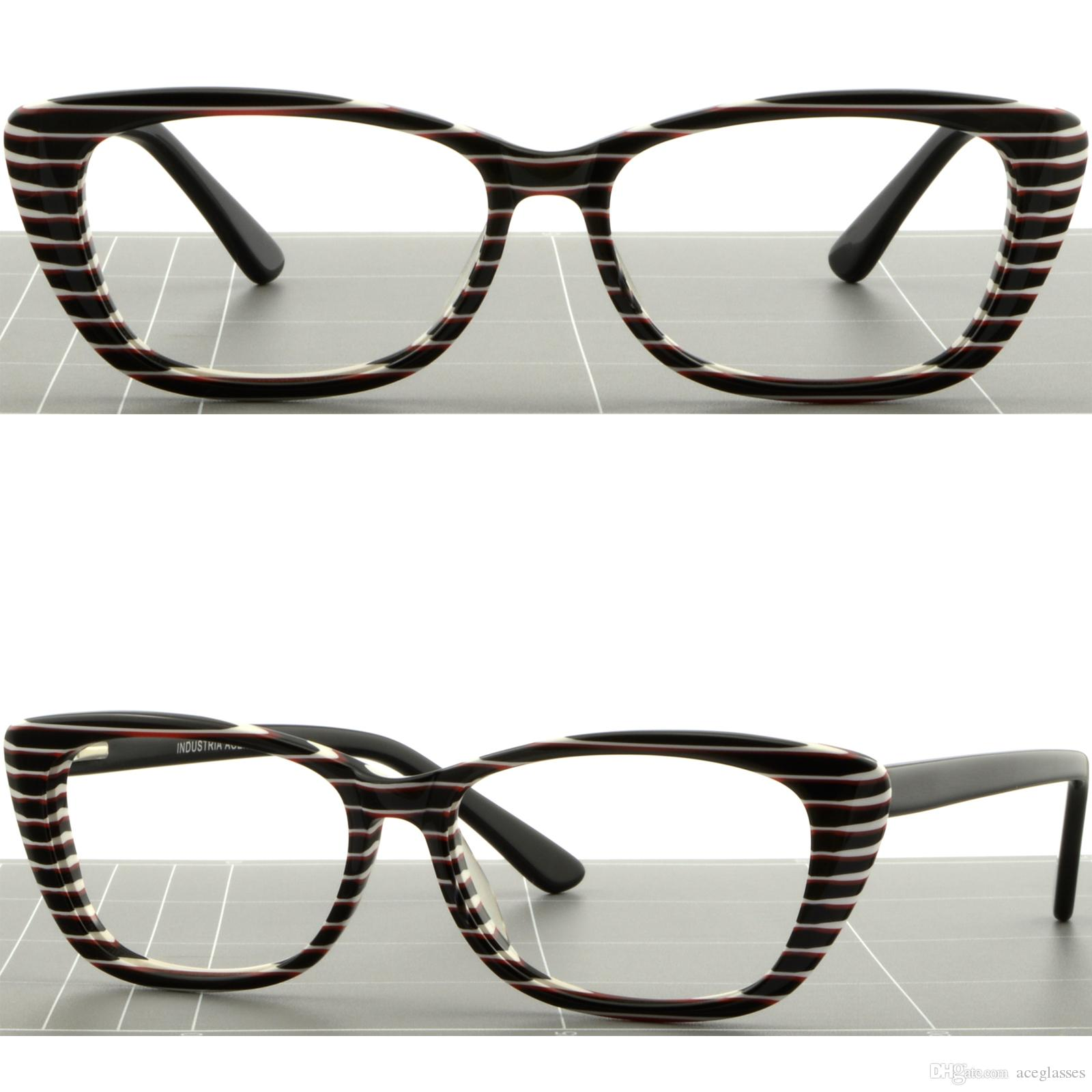 Women Cat Eye Plastic Frames Glasses Spring Hinge Zebra Print White