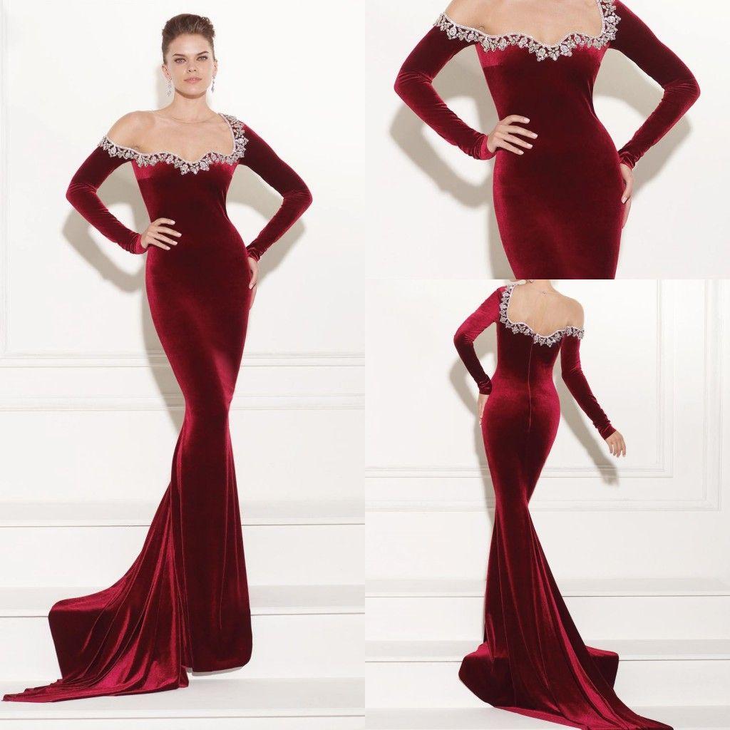 long sleeve off the shoulder formal dress | ivo hoogveld - photo#35