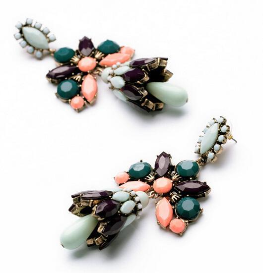 2014 Nowy wyolbrzymianie kobiet żyrandol Crystal Duży Drop Kolczyki Biżuteria Wyświadczenie Hurtownie Vintage Moda Biżuteria XT8632