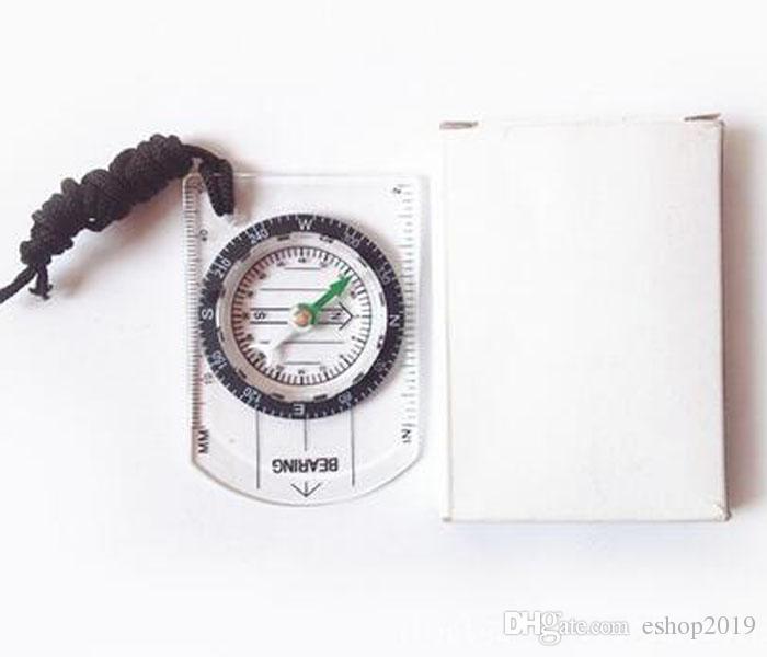 2016 neue Tragbare Mini Grundplatte Kompass + Karte Skala Herrscher für Outdoor Camping Wandern Radfahren Scouts freies verschiffen