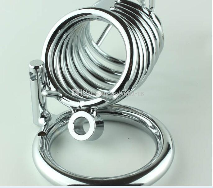 Dispositif d'usine vis vente homme nouveau mâle adulte pénis serrure de chasteté fantaisie métal en acier allié cage produits jouets sexuels pour l'homme