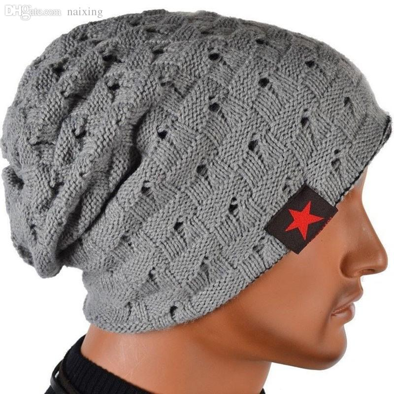 Wholesale Winter Hats For Men Double Sides Slouchy Beanies Hip Hop