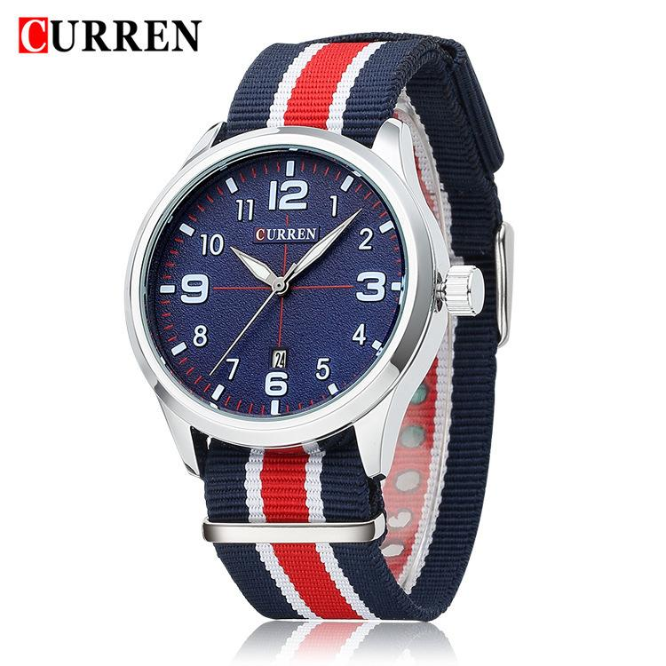 de2f204028 New Watch men top Brand CURREN men s Casual Sport watch Europe and America  male fashion Quartz wristwatch Military watches
