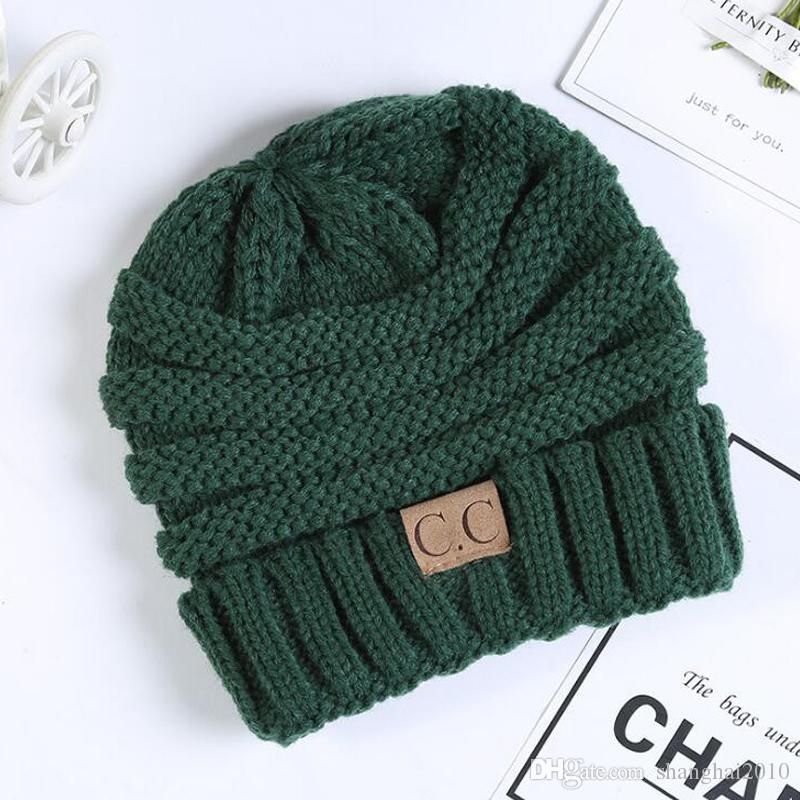 Mode Bébé Chapeaux CC À La Mode Beanie Crochet Beanies En Plein Air Chapeau Hiver Nouveau-Né Beanie Enfants De Laine Bonnets Tricotés Chapeau Chaud Bonnet BH55