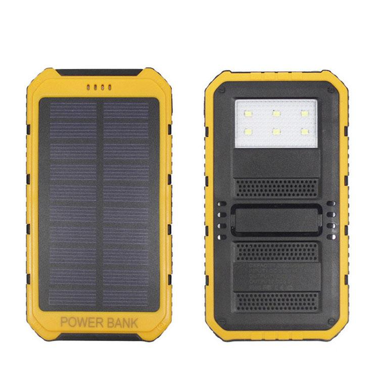 2016 Hot 20000mAh 2 USB Port Solar Power Bank Charger External Backup Battery With Retail Box For iPhone iPad Samsung Mobile Phone
