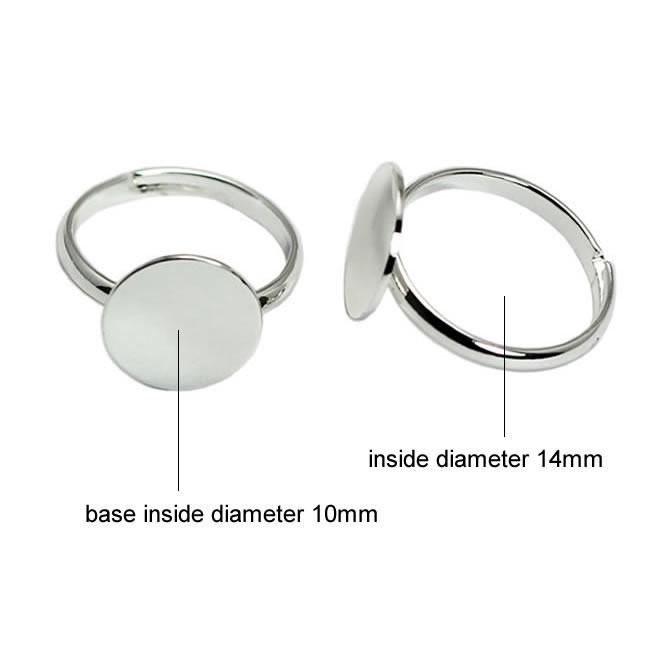 Beadsnice silver rings for children ring base with 10 mm flat pad for jewelry making fashion kids rings wholesale ID 29681