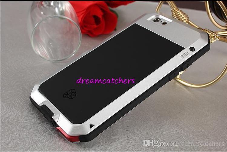 Funda de aluminio para teléfono móvil de metal Corning Gorilla Glass Protección superior para iPhone 6 más iphone 5s Sansung S3 S4