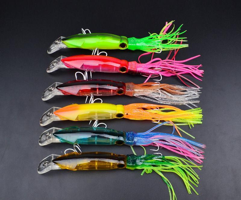 SQUID Джиги Крючков Buzzbait приманка 14см 40г Прочная пластиковый рукав-рыбы Рыбалка приманки питание рыболовных снастей