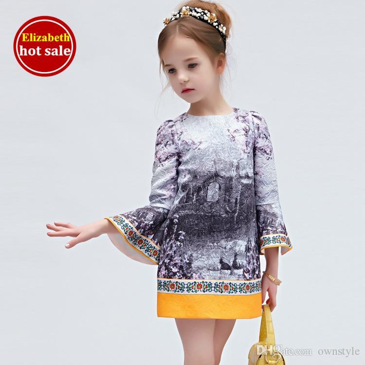 2017 Wlmonsoon Baby Clothes Designer Girls Dresses Elegant ...
