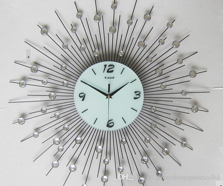 Diamond Design Wall Clock : Metal art wall clock ktrdecor