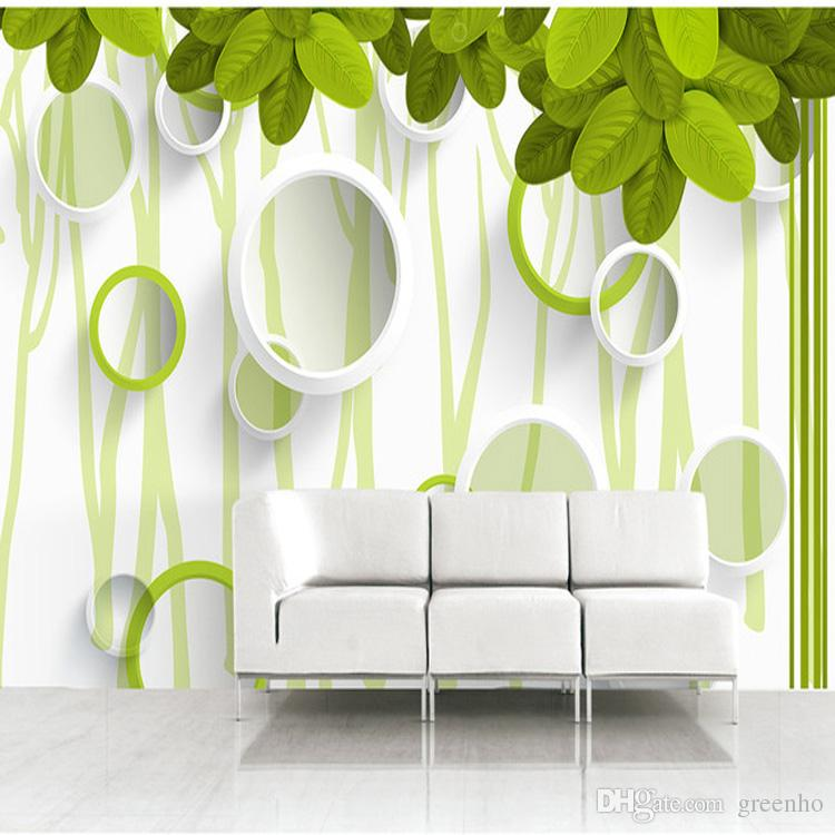 Wallpapers In Home Interiors: Nature Trees Leaves Photo Wallpaper 3d Elegant Circles