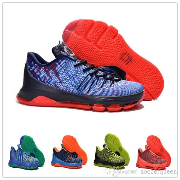 2018 Kevin Durant Basketball Shoes Men Athletic Boots 2016 Kd 8 Ep Zoom  Sneakers Black Blue Orange Sports Shoe Man Running Trainers Footwear Top  From ...