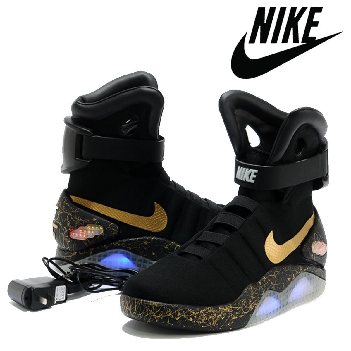 official photos c6975 70c63 Acheter 2016 Nike Air MAG Chaussures LED Hommes Nike Mag Chaussures De  Basket Hommes Mode Chaussures De Course De Taille Luxury Gris 8 12  Factorystore01 ...
