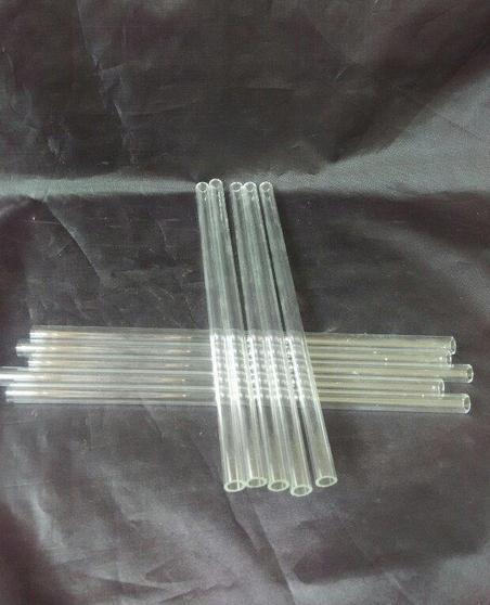 Wholesale 2015 new Thick transparent glass tube, 20cm length * 8mm diameter, glass Hookah / glass bong accessories, spo