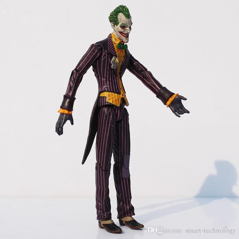 الأبطال الخارقين باتمان والجوكر PVC عمل الشكل يمكن المشترك تتحرك مجموعة نموذج تقريبا 17CM حالة 100٪ NEW