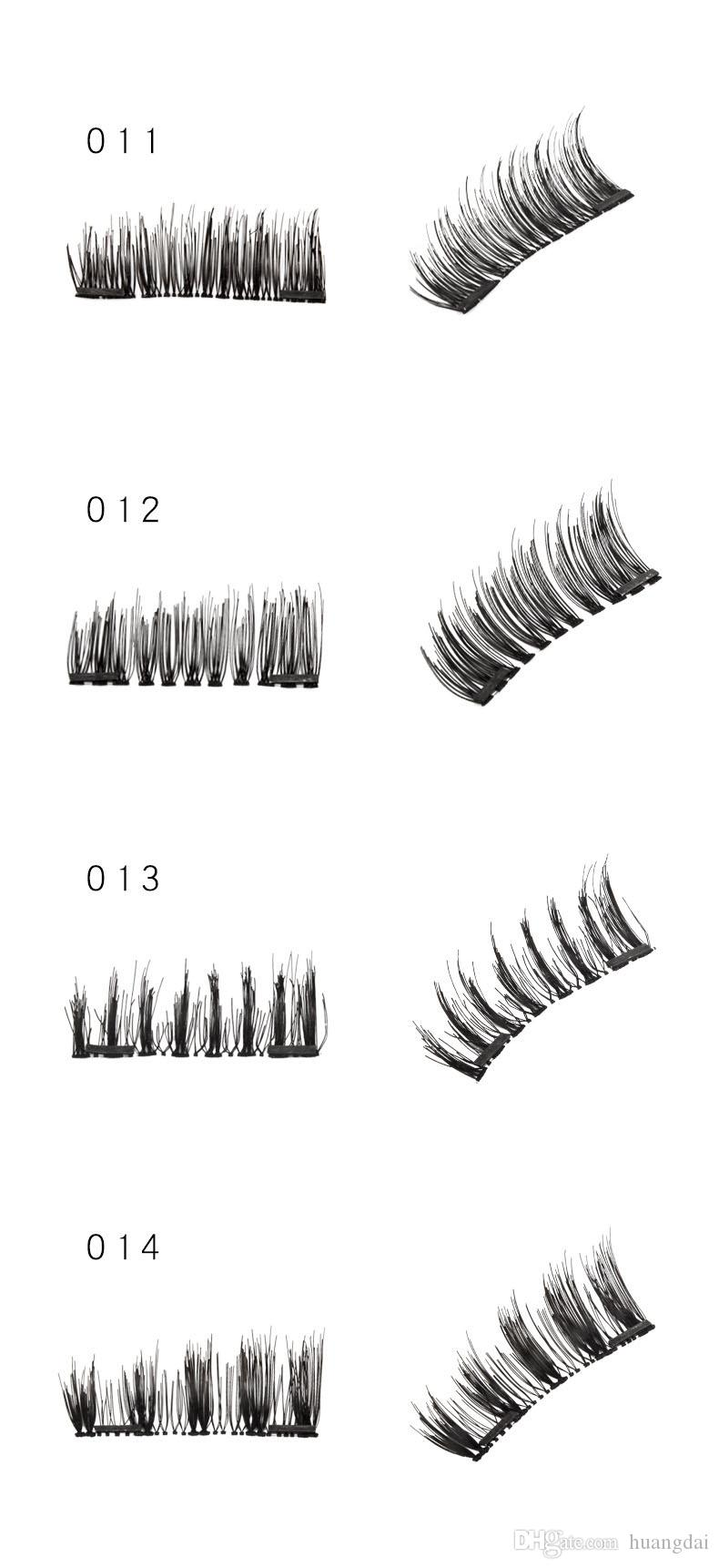 Hot New Magnetic Eye Lashes 3D Mink Reusable False Magnet Eyelashes Extension makeup Single /Double /Three Magnet