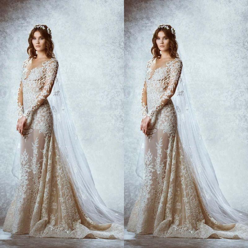V Neck Corset Wedding Dress
