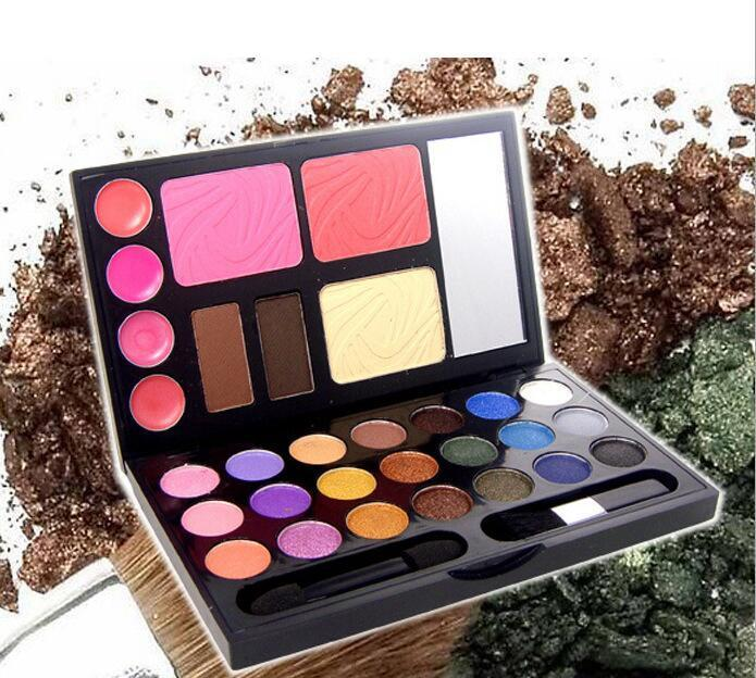 DANN 21Color Professional shimmer Palette Eye Shadows eyeshadow palette Makeup Set Cosmetics (Blush,foundation,eyebraw,Lip Gloss,Eye shadow)
