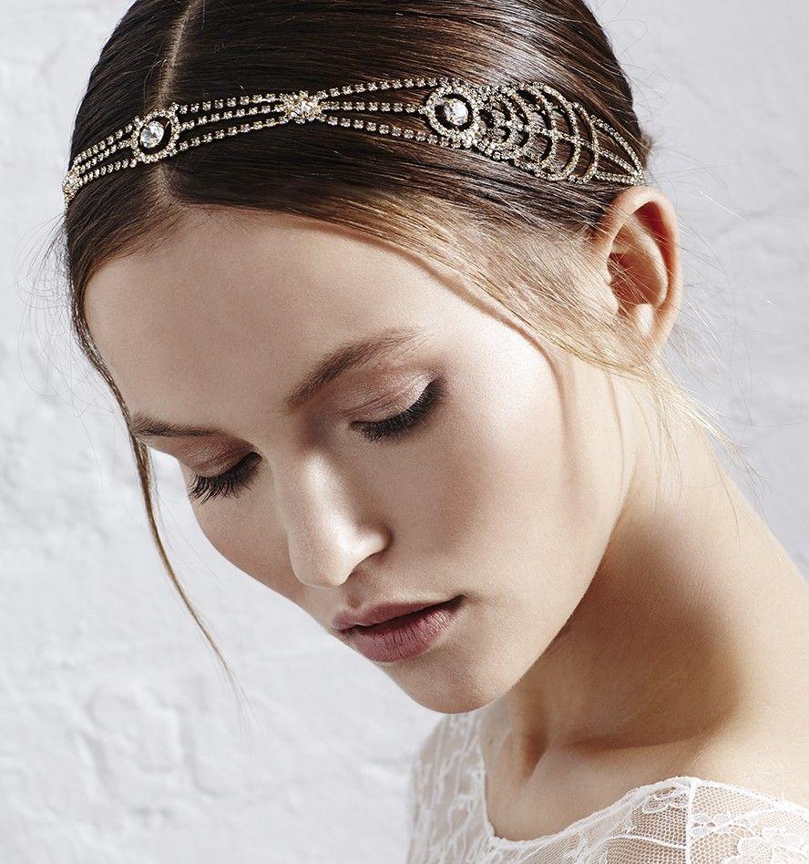 bling vintage bride wedding head wrap 2015 fashion bridal fascinators high quality handmade crystal hair jewelry silver gold color jennifer bride shop bride