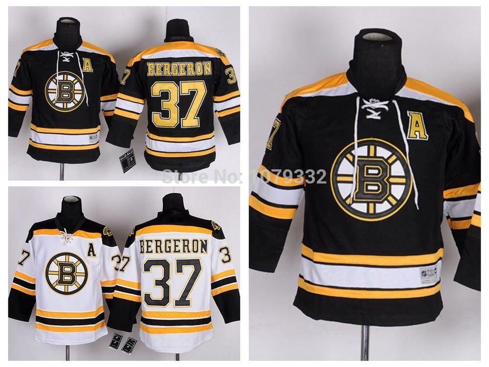 2019 Cheap Kids Bruins Bergeron Jerseys Youth  37 Patrice Bergeron Jersey  Home Black Road White Boy Bergeron Stitched Jerseys A Patch From Probowl 56954563105