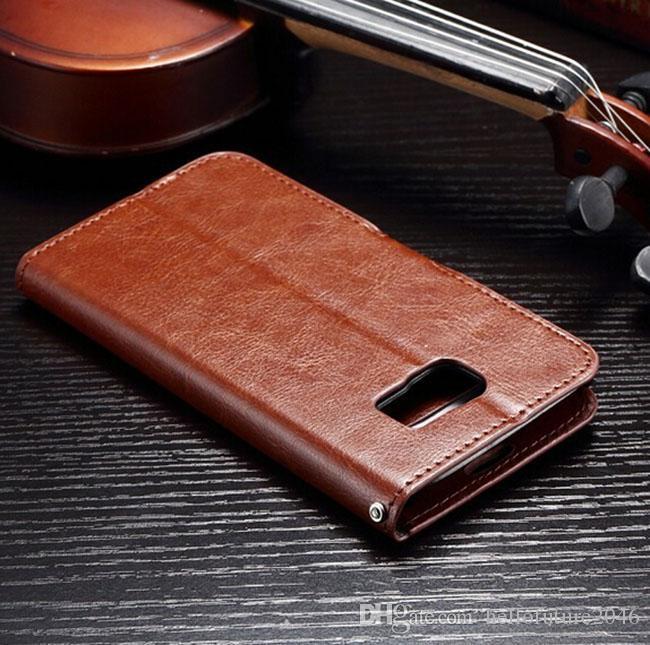Für Samsung Galaxy S6 G920 A3 A5 A7 Luxus Retro Vintage Brieftasche Flip PU Ledertasche mit Fotorahmen Kreditkarte Slots Ständer Halter