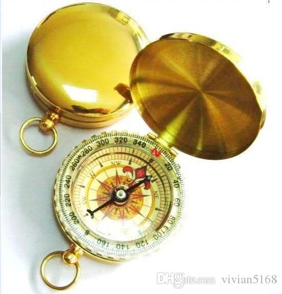 Przenośny Mini Klasyczny Zegarek Kieszonkowy Styl Brązujący Antyczny Kompas Do Keychain Kemping Piesze wycieczki Sport Outdoor Noctilucent Compass by DHL