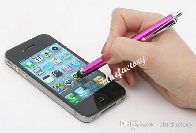 Lápiz táctil capacitiva universal Stylus Pen para iPhone 6S 5s 4s Samsung S6 HTC M8 M9 Ipad Tablet lápiz táctil capacitiva Pen pantalla