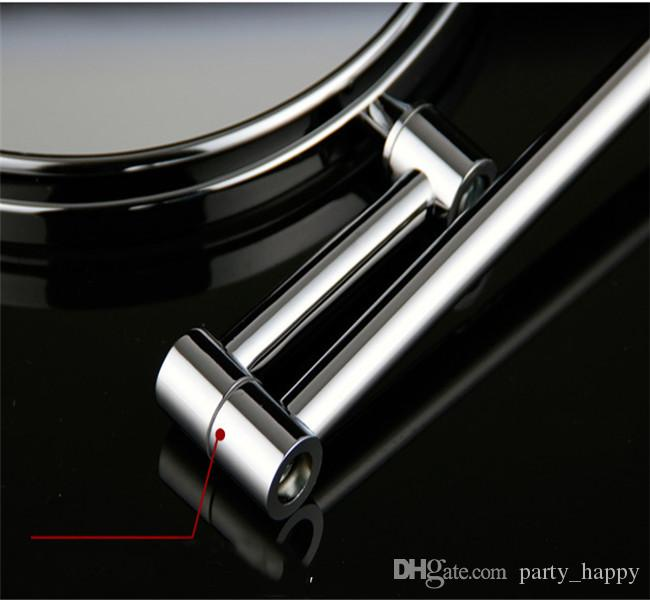 New Cosmetic Pocket Mirror Makeup Blank Compact Mirror With Lamp Cosmetic Mirror Cosmetic Mirror Make-Up Mirror The Metal Frame Mirror